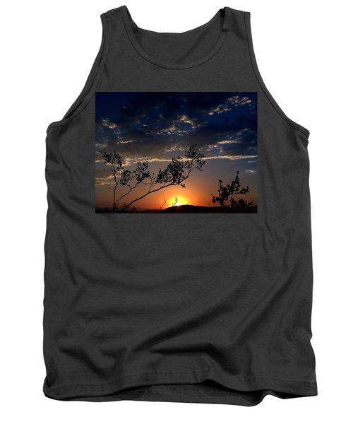 Joshua Tree Sunset Tank Top by Chris Tarpening