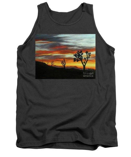 Joshua Trees At Sunset Tank Top