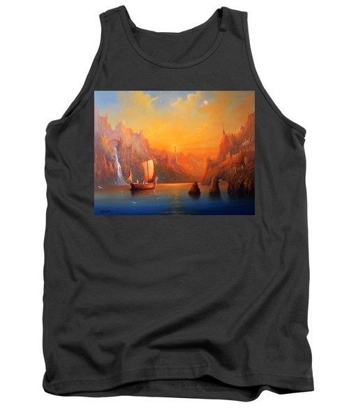 Journey To The Undying Lands Tank Top by Joe  Gilronan