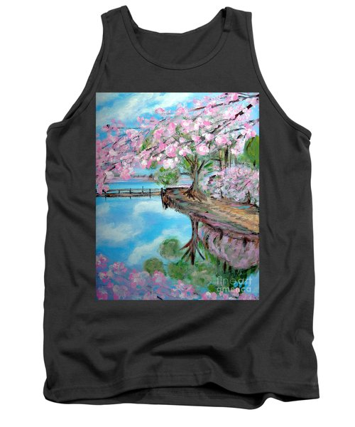 Joy Of Spring. Acrylic Painting For Sale Tank Top