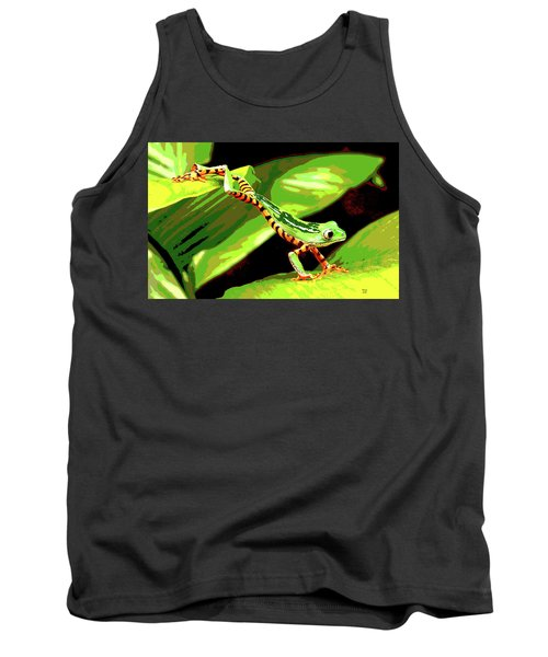 Jumping Frog Tank Top by Charles Shoup