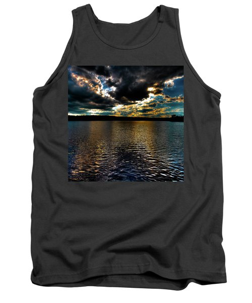 Tank Top featuring the photograph June Sunset On Nicks Lake by David Patterson