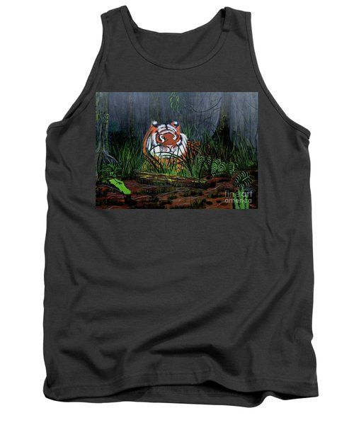 Tank Top featuring the painting Jungle Cat by Myrna Walsh
