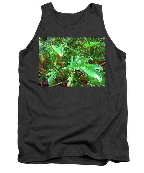 Tank Top featuring the photograph Jungle Greenery by Ginny Schmidt