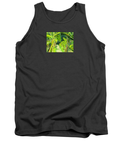 Tank Top featuring the digital art Jungle Path by Jean Pacheco Ravinski