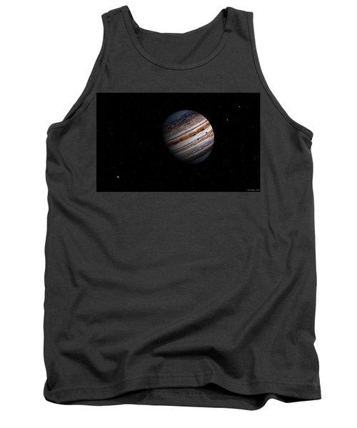 Jupiter And It 4 Major Moons Tank Top