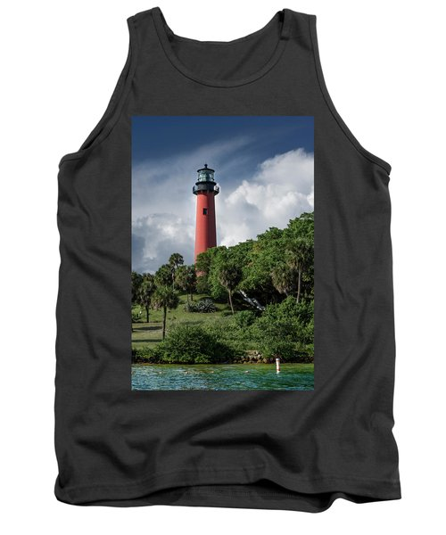 Jupiter Inlet Lighthouse Tank Top by Laura Fasulo