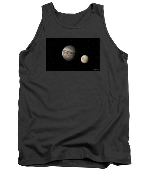 Tank Top featuring the digital art Jupiter With Io And Europa by David Robinson