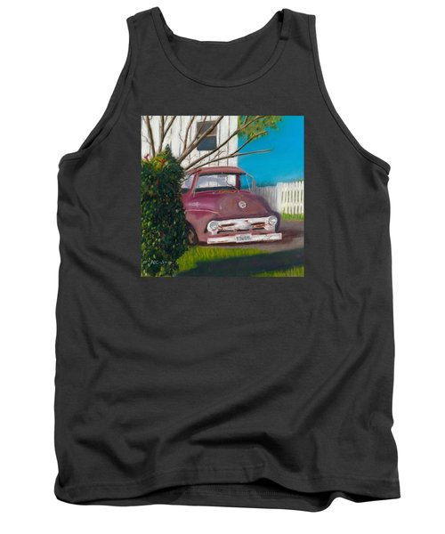 Tank Top featuring the painting Just Up The Road by Arlene Crafton