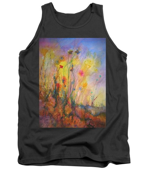 Just Weeds Tank Top by Mary Schiros
