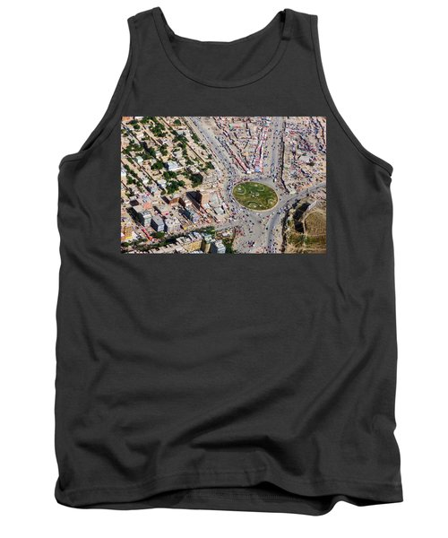 Kabul Traffic Circle Aerial Photo Tank Top