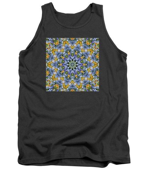 Kaleidoscope - Blue And Yellow Tank Top by Nikolyn McDonald
