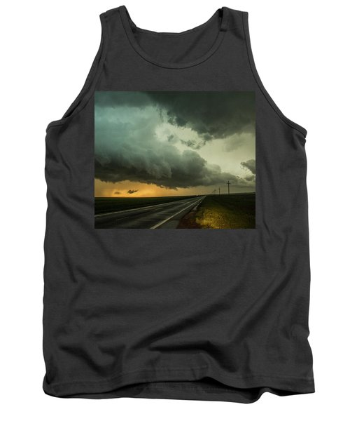 Kansas Storm Chase Bust Day 004 Tank Top