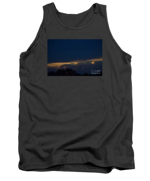 Tank Top featuring the photograph Kansas Sunset Angel by Mark McReynolds
