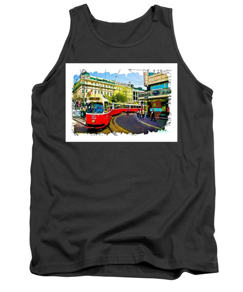 Tank Top featuring the photograph Kartner Strasse - Vienna by Tom Cameron