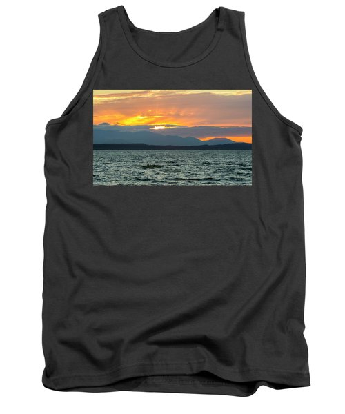 Kayaking In The Puget Sound Tank Top