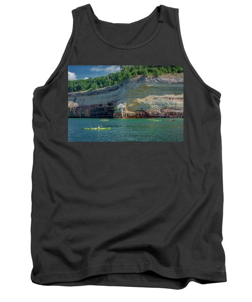 Kayaking The Pictured Rocks Tank Top