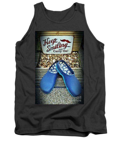 Keep Smiling And Carry On Tank Top