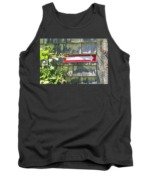 Tank Top featuring the digital art Keep To The Right by Barbara S Nickerson