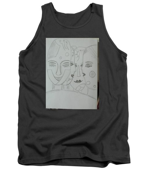 Tank Top featuring the drawing Keeper Of Secrets by Sharyn Winters