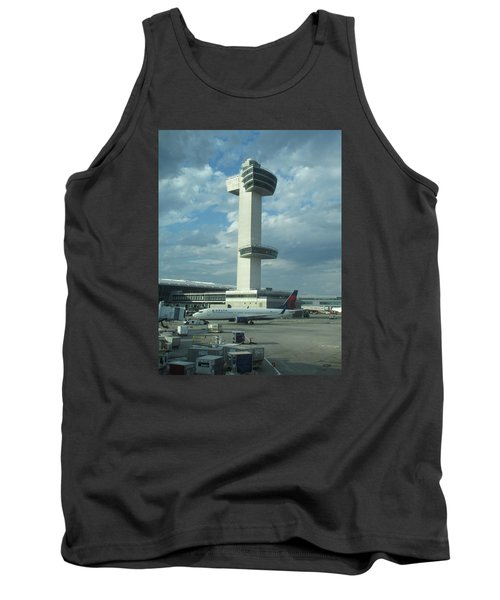 Kennedy Airport Control Tower Tank Top by Christopher Kirby