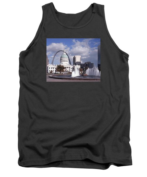 Tank Top featuring the photograph Kiener Plaza - St Louis by Harold Rau