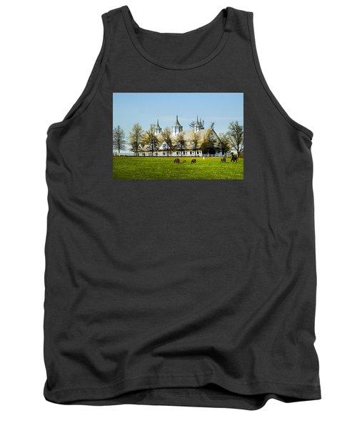 Revised Kentucky Horse Barn Hotel 2 Tank Top by Randall Branham