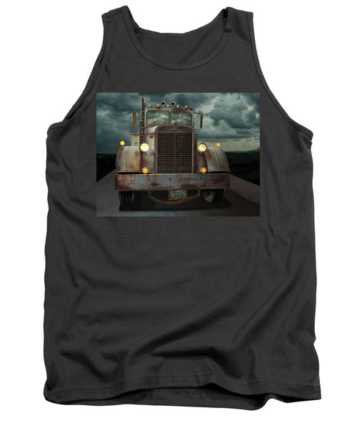 Tank Top featuring the digital art Kenworth Old Workhorse by Stuart Swartz