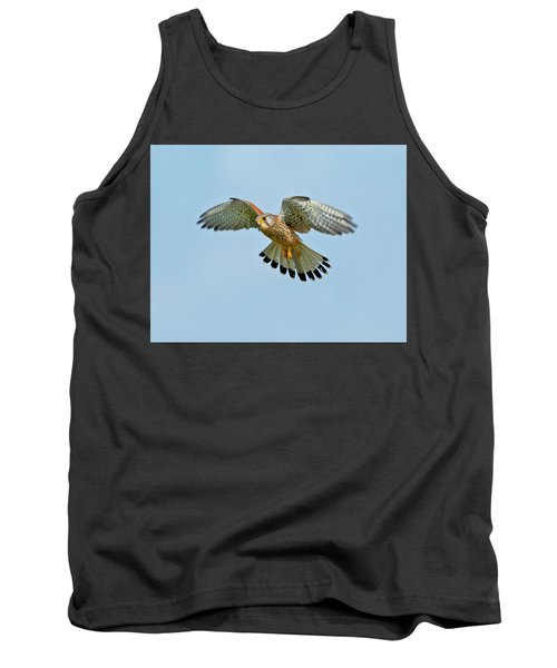 Tank Top featuring the photograph Kestrel In The Wind . by Paul Scoullar
