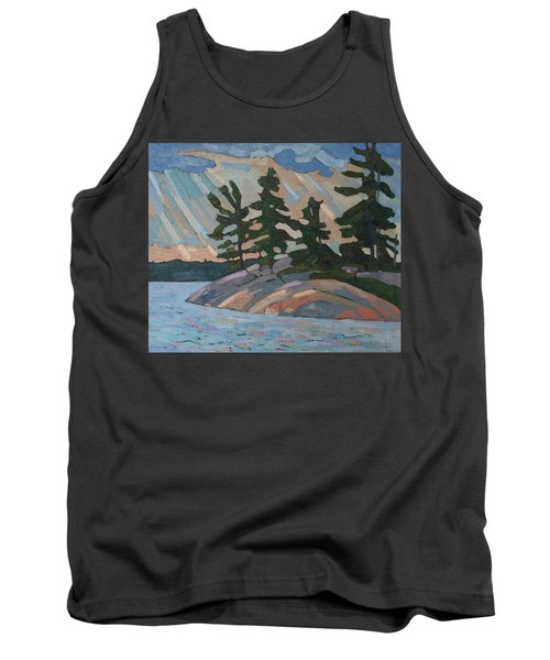 Killbear Pines And Morning Crepuscular Rays Tank Top