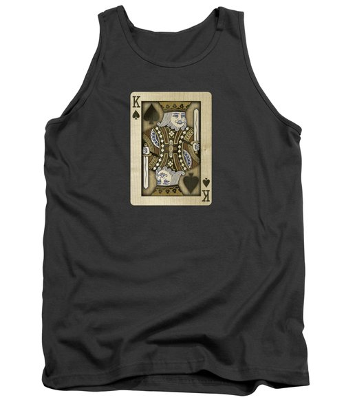 King Of Spades In Wood Tank Top by YoPedro