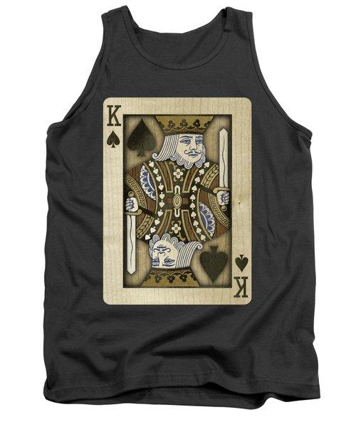 King Of Spades In Wood Tank Top