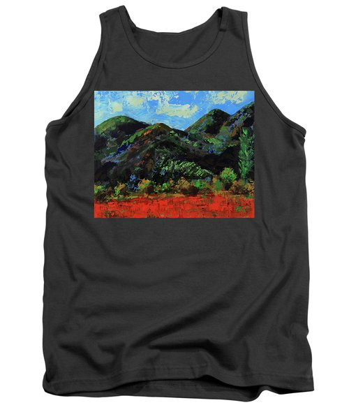 Tank Top featuring the painting Kings Canyon Fall Colors by Walter Fahmy