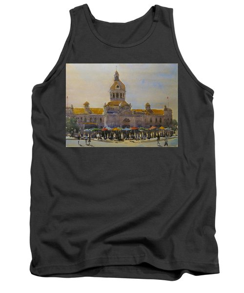Kingston-city Hall Market Morning Tank Top by David Gilmore
