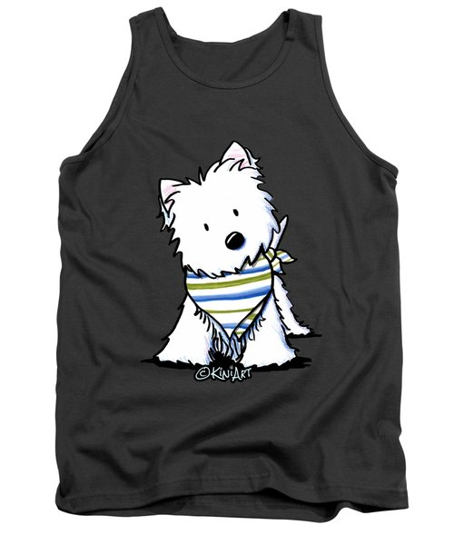 Kiniart Westie Terrier Tank Top