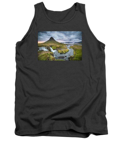 Kirkjufellsfoss 1 Tank Top by Brad Grove
