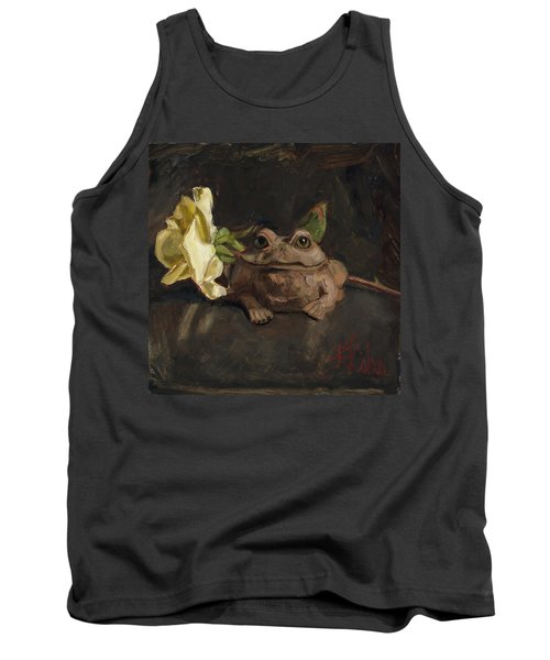 Tank Top featuring the painting Kiss Me And Find Out by Billie Colson