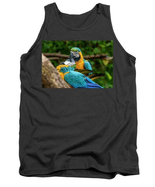 Kissing Parots Tank Top