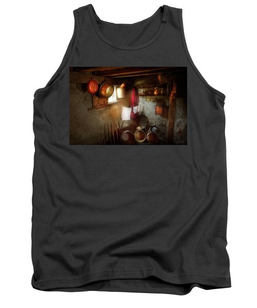 Tank Top featuring the photograph Kitchen - Homesteading Life by Mike Savad