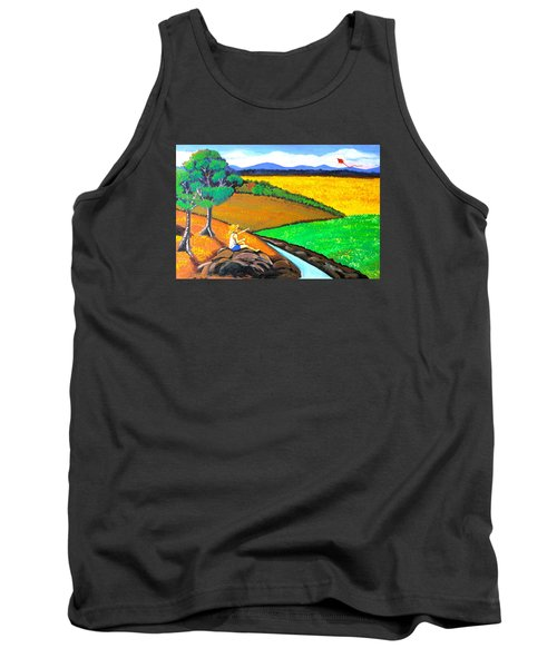 Tank Top featuring the painting Kite by Cyril Maza