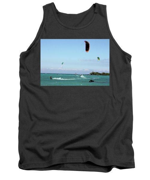 Kite Surfers And Maui Tank Top