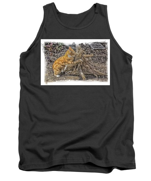 Kitty Thinking Of Mischievous Things Tank Top