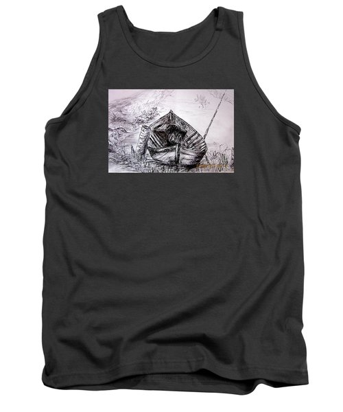 Tank Top featuring the drawing Klotok  by Jason Sentuf