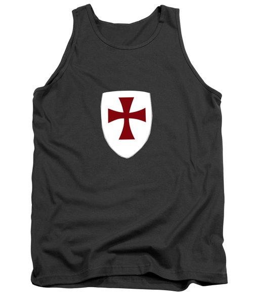 Knights Templar Crusades Shield Tank Top
