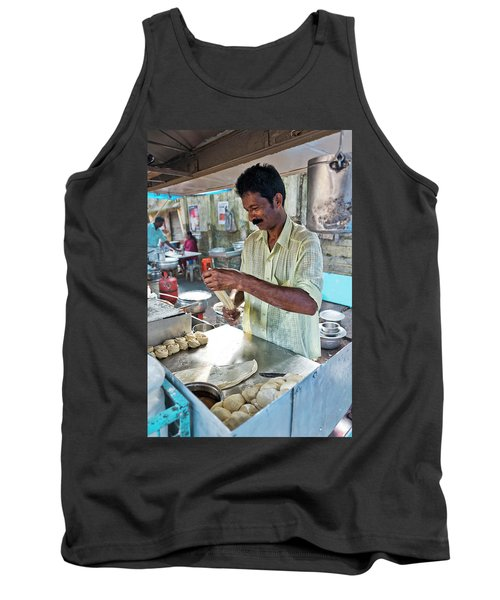 Tank Top featuring the photograph Kochi Stall by Marion Galt