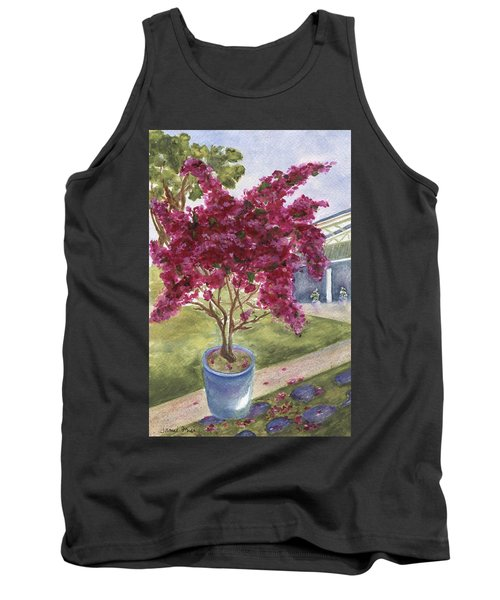 Tank Top featuring the painting Kona Bougainvillea by Jamie Frier