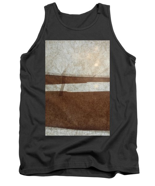 Kraft Paper And Screen Seascape Tank Top