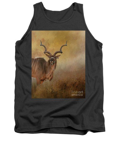 Kudu On Alert Tank Top by Myrna Bradshaw