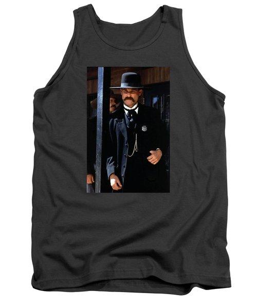 Kurt Russell As Wyatt Earp Tombstone Arizona 1993-2015 Tank Top by David Lee Guss