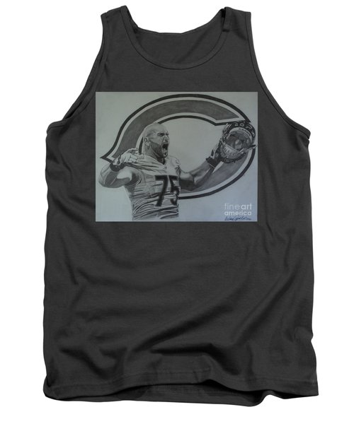 Tank Top featuring the drawing Kyle Long Portrait by Melissa Goodrich